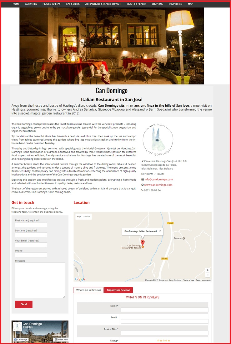 Sales Page Example when Advertise with us What's on in Hemel Hempstead.com